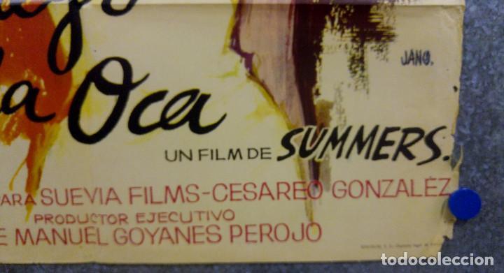 Cine: El juego de la oca. Sonia Bruno, María Massip, José Antonio Amor. AÑO 1966. POSTER ORIGINAL - Foto 7 - 166818654