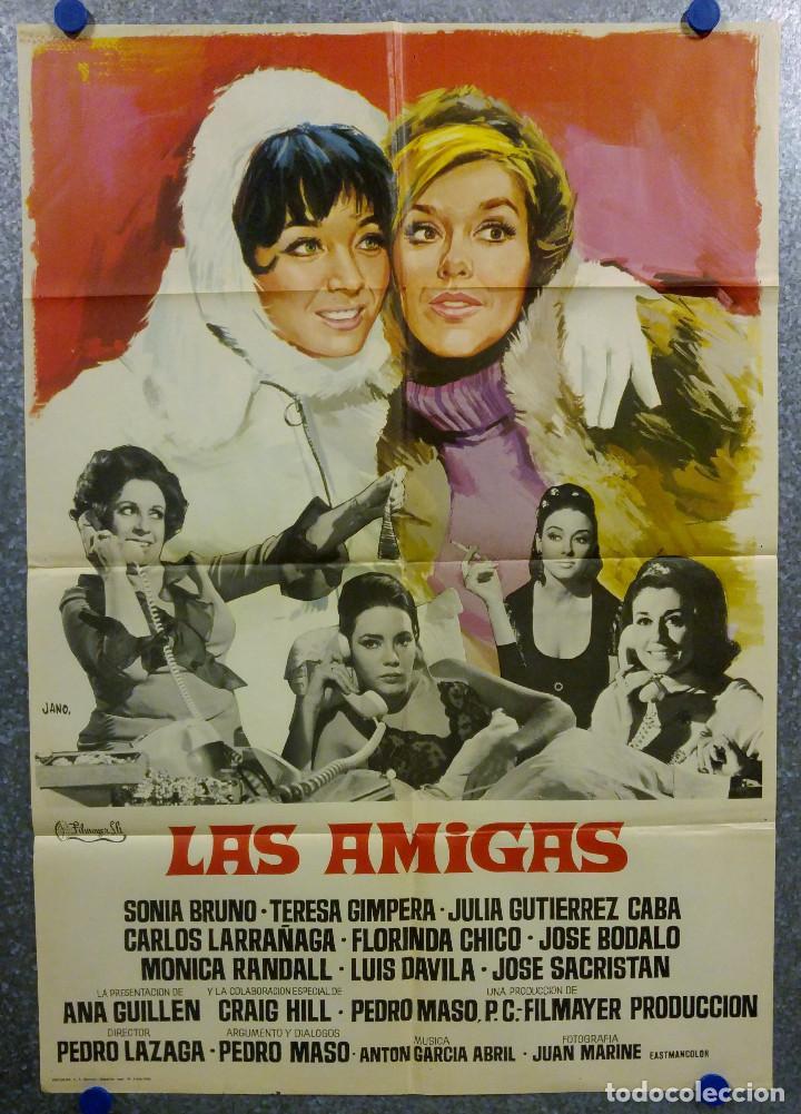LAS AMIGAS . SONIA BRUNO, TERESA GIMPERA, JULIA GUTIÉRREZ CABA AÑO 1969. POSTER ORIGINAL (Cine - Posters y Carteles - Clasico Español)