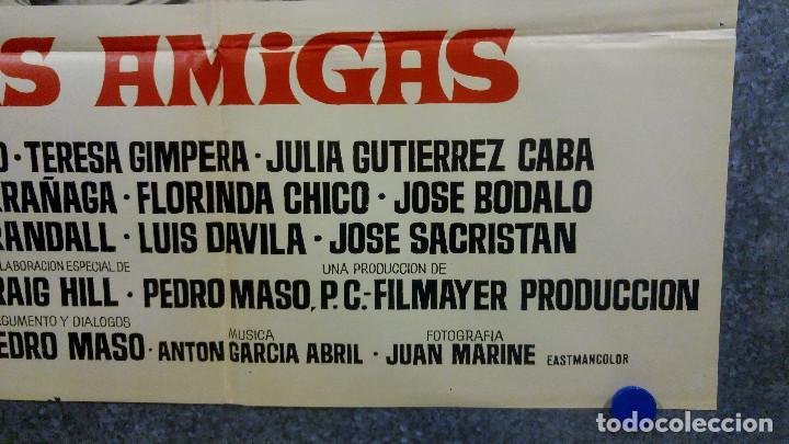 Cine: Las amigas . Sonia Bruno, Teresa Gimpera, Julia Gutiérrez Caba AÑO 1969. POSTER ORIGINAL - Foto 7 - 166819470