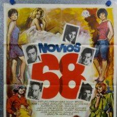 Cine: NOVIOS 68. ARTURO FERNÁNDEZ, SONIA BRUNO, JOSÉ LUIS LÓPEZ VÁZQUEZ AÑO 1967. POSTER ORIGINAL. Lote 166821430