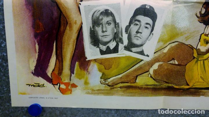 Cine: Novios 68. Arturo Fernández, Sonia Bruno, José Luis López Vázquez AÑO 1967. POSTER ORIGINAL - Foto 5 - 166821430