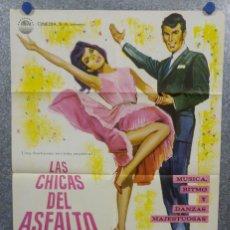 Cine: LAS CHICAS DEL ASFALTO. CUARTETO ROLAND HANNA . MUSICAL. AÑO 1967. POSTER ORIGINAL. Lote 166923768