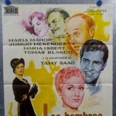 Cine: LOS HOMBRES LAS PREFIEREN VIUDAS. MARÍA MAHOR, JUANJO MENÉNDEZ AÑO 1970. POSTER ORIGINAL. Lote 166925876