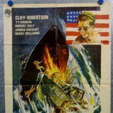 Cinema: PATRULLERO PT 109. CLIFF ROBERTSON, TY HARDIN, JAMES GREGORY AÑO 1963 POSTER ORIGINAL. Lote 166928000