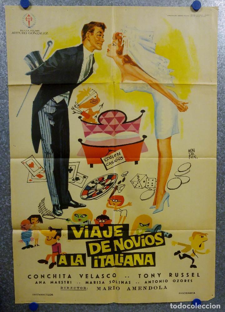 VIAJE DE NOVIOS A LA ITALIANA. TONY RUSSEL, CONCHA VELASCO AÑO 1967. POSTER ORIGINAL (Cine - Posters y Carteles - Clasico Español)