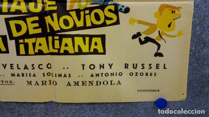 Cine: Viaje de novios a la italiana. Tony Russel, Concha Velasco AÑO 1967. POSTER ORIGINAL - Foto 6 - 166928548