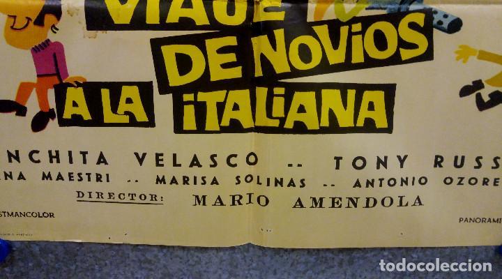 Cine: Viaje de novios a la italiana. Tony Russel, Concha Velasco AÑO 1967. POSTER ORIGINAL - Foto 7 - 166928548