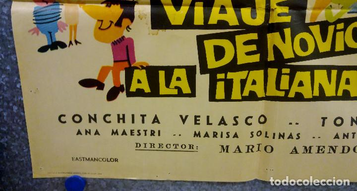 Cine: Viaje de novios a la italiana. Tony Russel, Concha Velasco AÑO 1967. POSTER ORIGINAL - Foto 8 - 166928548