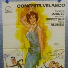 Cine: TRAMPA PARA CATALINA. CONCHA VELASCO, ANTONIO OZORES. AÑO 1961. POSTER ORIGINAL. Lote 166930132