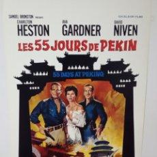 Cine: 55 DAYS AT PEKING.55 DIAS EN PEKING. CHARLTON HESTON, AVA GARDNER, DAVID NIVEN.NICHOLAS RAY.1963. Lote 166951568