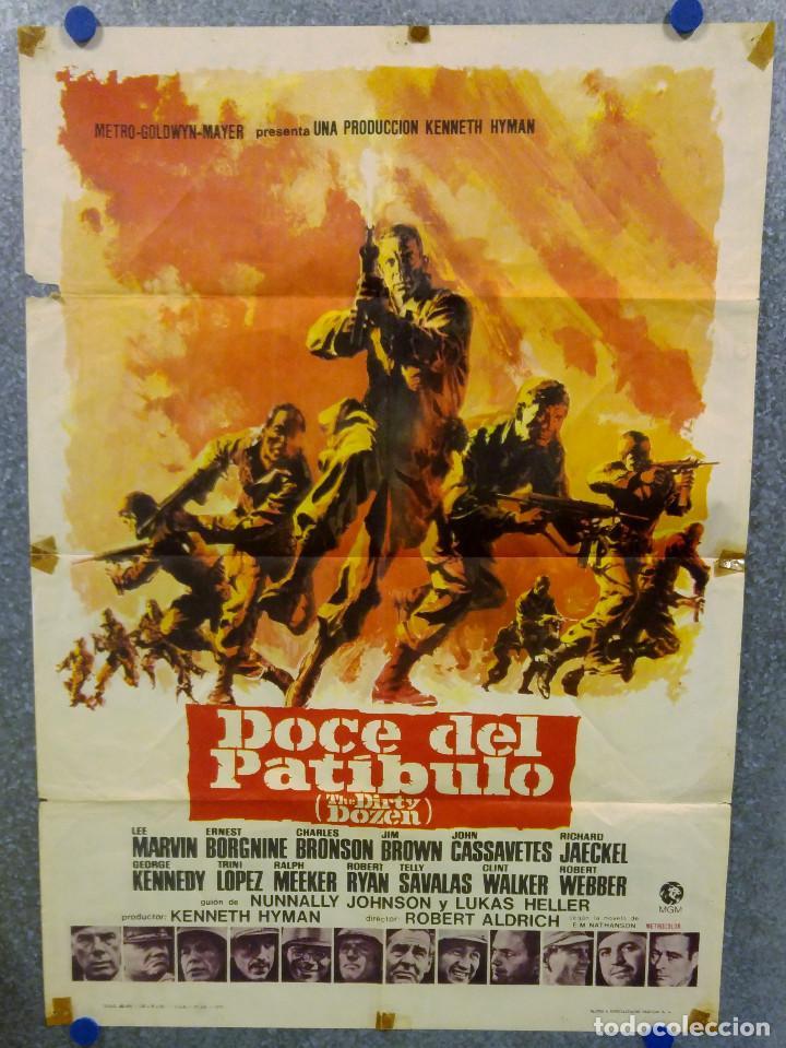 DOCE DEL PATÍBULO. LEE MARVIN, CHARLES BRONSON, JOHN CASSAVETES AÑO 1967. POSTER ORIGINAL (Cine - Posters y Carteles - Bélicas)