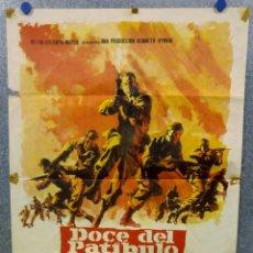 Cine: DOCE DEL PATÍBULO. LEE MARVIN, CHARLES BRONSON, JOHN CASSAVETES AÑO 1967. POSTER ORIGINAL. Lote 167464448