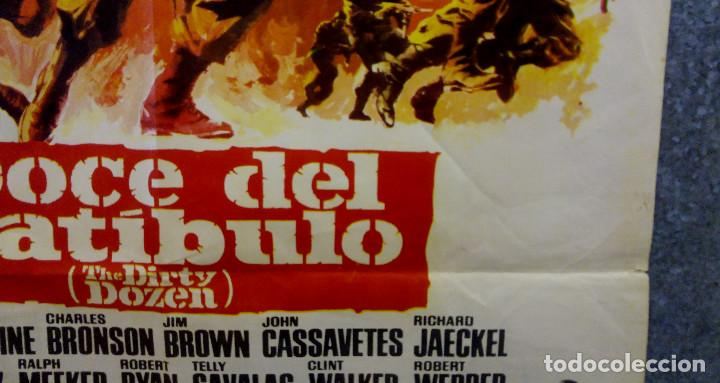 Cine: Doce del patíbulo. Lee Marvin, Charles Bronson, John Cassavetes AÑO 1967. POSTER ORIGINAL - Foto 7 - 167464448