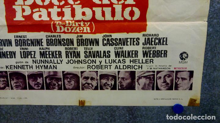 Cine: Doce del patíbulo. Lee Marvin, Charles Bronson, John Cassavetes AÑO 1967. POSTER ORIGINAL - Foto 8 - 167464448