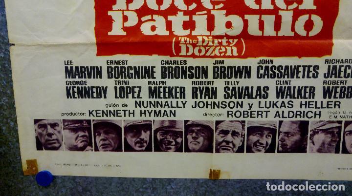 Cine: Doce del patíbulo. Lee Marvin, Charles Bronson, John Cassavetes AÑO 1967. POSTER ORIGINAL - Foto 9 - 167464448