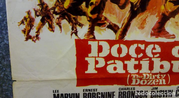 Cine: Doce del patíbulo. Lee Marvin, Charles Bronson, John Cassavetes AÑO 1967. POSTER ORIGINAL - Foto 10 - 167464448