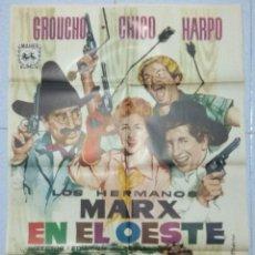 Cine: LOS HERMANOS MARX EN EL OESTE 1962 - CARTEL ORIGINAL. Lote 167475820