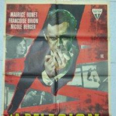 Cine: LA DELACION - 1962 CARTEL ORIGINAL CON MAURICE RONET. Lote 167476256