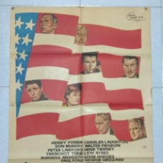 Cine: TEMPESTAD SOBRE WASHINGTON - 1963 - CARTEL ORIGINAL - FILM DE OTTO PREMINGER. Lote 167513600