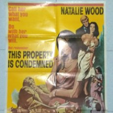 Cine: PROPIEDAD CONDENADA - CARTEL ORIGINAL EN INGLES - THIS PROPERTY IS CONDEMNED. Lote 167515452