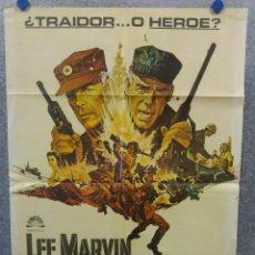 Cine: SARGENTO RYKER. LEE MARVIN. AÑO 1968. POSTER ORIGINAL. Lote 167739160