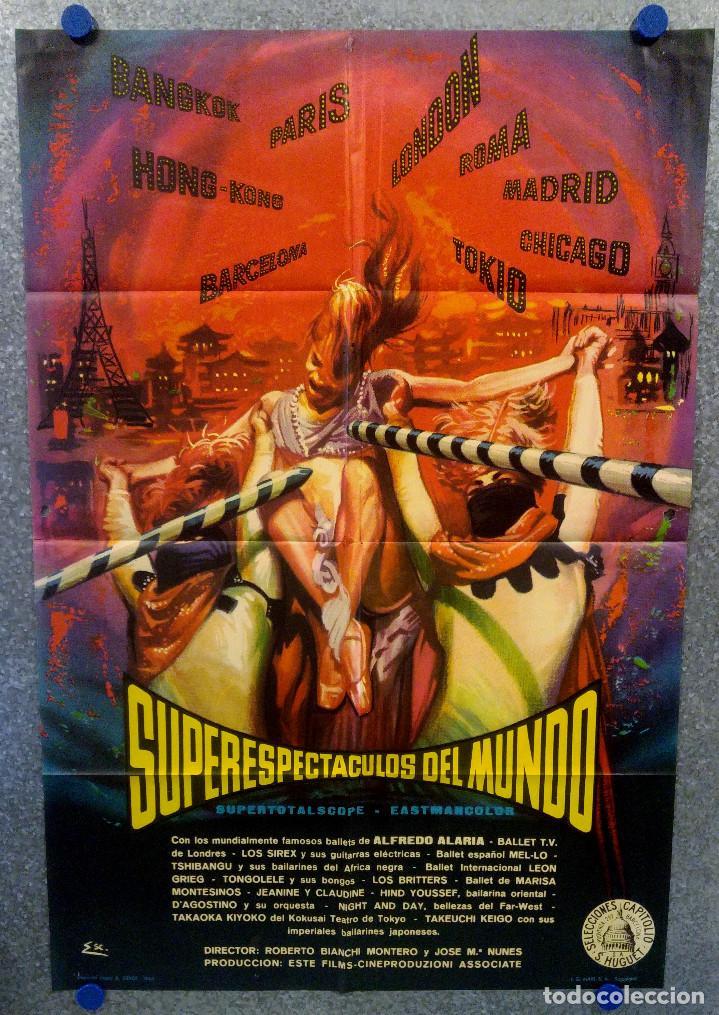 SUPERESPECTACULOS DEL MUNDO. ROBERTO BIANCHI JOSE MARIA NUNES, LOS SIREX AÑO 1963. POSTER ORIGINAL (Cine - Posters y Carteles - Musicales)