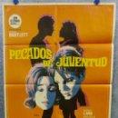 Cine: PECADOS DE JUVENTUD. KENT LANE, MICHELE CAREY. AÑO 1970. POSTER ORIGINAL. Lote 167975748
