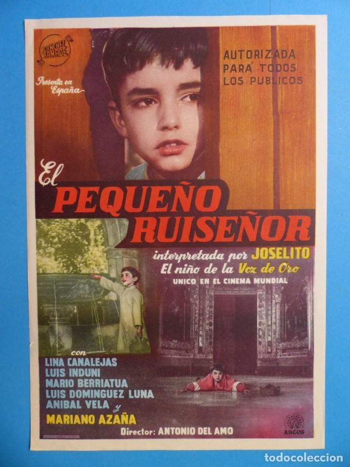 EL PEQUEÑO RUISEÑOR - JOSELITO, LINA CANALEJAS - 30X21 CM. (Cine - Posters y Carteles - Clasico Español)
