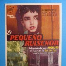 Cine: EL PEQUEÑO RUISEÑOR - JOSELITO, LINA CANALEJAS - 30X21 CM.. Lote 190750241