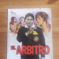 Cine: EL ARBITRO CARTEL FOLLETO CINE PELICULA BUZZANCA JOAN COLLINS FILIPO D'AMICO FUTBOL DEPORTES EASTMAN. Lote 168081628