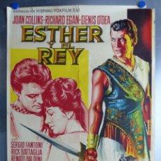 Cine: ESTHER Y EL REY, JOAN COLLINS, RICHARD EGAN, LITOGRAFIA, SOLIGO. Lote 168088548