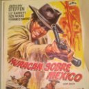 Cine: ANTIGUO CARTEL POSTER CINE ORIGINAL PELICULA HURACAN SOBRE MEXICO. Lote 168195808