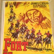 Cine: ANTIGUO CARTEL POSTER CINE ORIGINAL PELICULA FORT VENGANZA. Lote 168197140