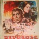 Cine: ANTIGUO CARTEL POSTER CINE ORIGINAL PELICULA BARRABAS. Lote 168199872