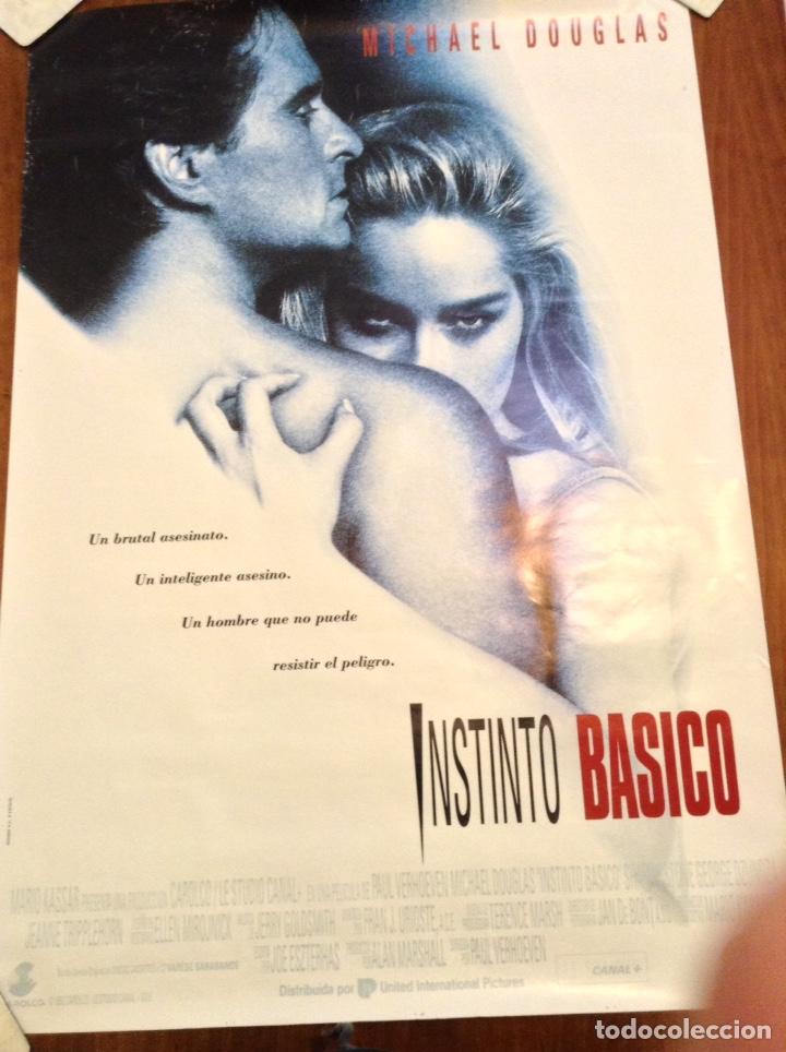 CARTEL ORIGINAL INSTINTO BASICO MICHAEL DOUGLAS SHARON STONE AÑOS 90 70X100 (Cine - Posters y Carteles - Suspense)