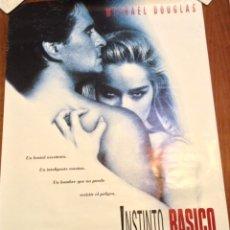 Cine: CARTEL ORIGINAL INSTINTO BASICO MICHAEL DOUGLAS SHARON STONE AÑOS 90 70X100. Lote 168252560