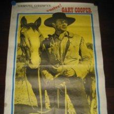 Cine: EL FORASTERO. GARY COOPER 1974. Lote 168300176