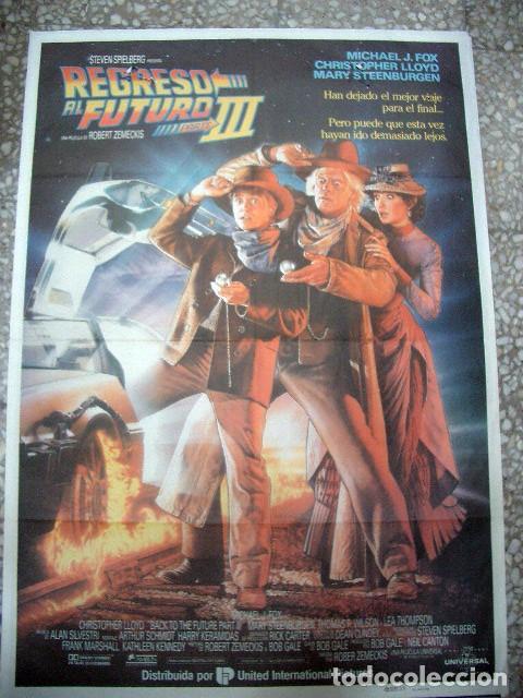 PÓSTER DE CINE ORIGINAL 70X100CM REGRESO AL FUTURO III (Cine - Posters y Carteles - Ciencia Ficción)