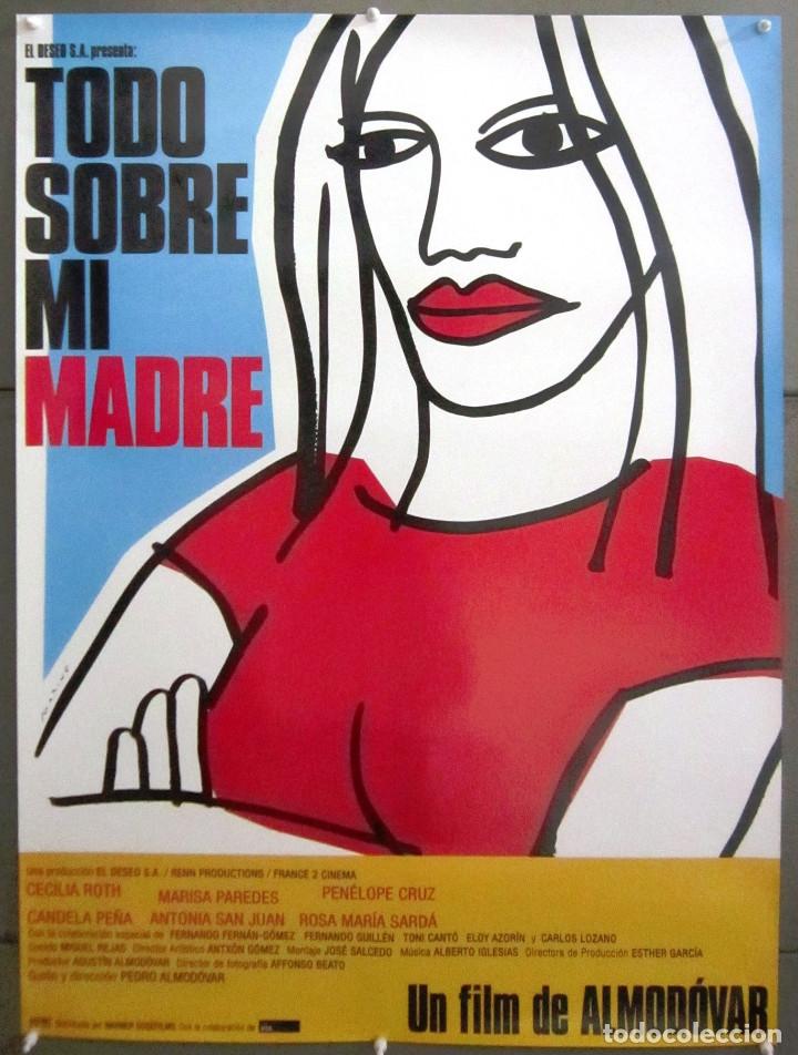 XL05D TODO SOBRE MI MADRE PEDRO ALMODOVAR POSTER ORIGINAL ESPAÑOL 70X100 (Cine - Posters y Carteles - Clasico Español)