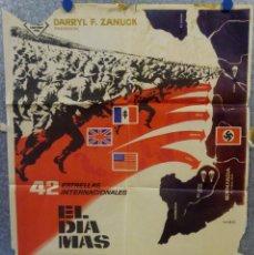 Cinéma: EL DIA MAS LARGO. JOHN WAYNE, HENRY FONDA, ROBERT MITCHUM. AÑO 1962. POSTER ORIGINAL. Lote 168450144