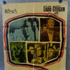 Kino - 13 calle oeste. Alan Ladd, Rod Steiger, Michael Callan. AÑO 1962. POSTER ORIGINAL - 168451396