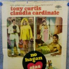 Cine: NO HAGAN OLAS. TONY CURTIS, CLAUDIA CARDINALE, SHARON TATE POSTER ORIGINAL. Lote 269099423