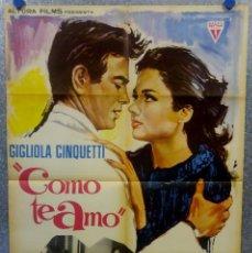 Cine: COMO TE AMO. GIGLIOLA CINQUETTI, MARK DAMON - AÑO 1966 GANADORA SAN REMO CANCION DIO COME TI AMO. Lote 168476076