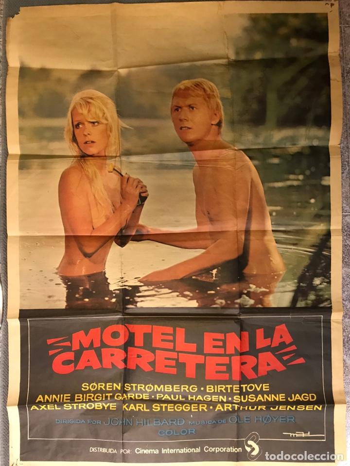 CINE. CARTEL MOTEL EN LA CARRETERA. DIRIGIDA POR JOHN HILBARD (A.1972) (Cine - Posters y Carteles - Suspense)