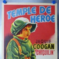Cine: TEMPLE DE HEROE - JAQUIE COOGAN, CHIQUILIN - ILUSTRADO POR LLOAN . LITOGRAFIA - AÑO 1964. Lote 97615860