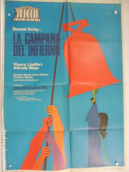 LA CAMPANA DEL INFIERNO - POSTER CARTEL ORIGINAL - CLAUDIO GUERIN HILL RENAUD VERLEY V LINDFORDS (Cine - Posters y Carteles - Clasico Español)