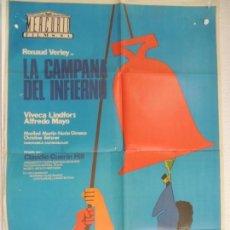 Cine: LA CAMPANA DEL INFIERNO - POSTER CARTEL ORIGINAL - CLAUDIO GUERIN HILL RENAUD VERLEY V LINDFORDS. Lote 195298852