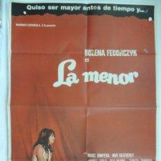 Cine: LA MENOR - POSTER CARTEL ORIGINAL - PEDRO MASO BOZENA FEDORCZYK TERESA GIMPERA MCP. Lote 168933460
