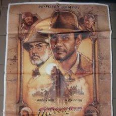 Cine: ANTIGUO PÓSTER DE CINE ORIGINAL, INDIANA JONES Y LA ÚLTIMA CRUZADA. Lote 204075181