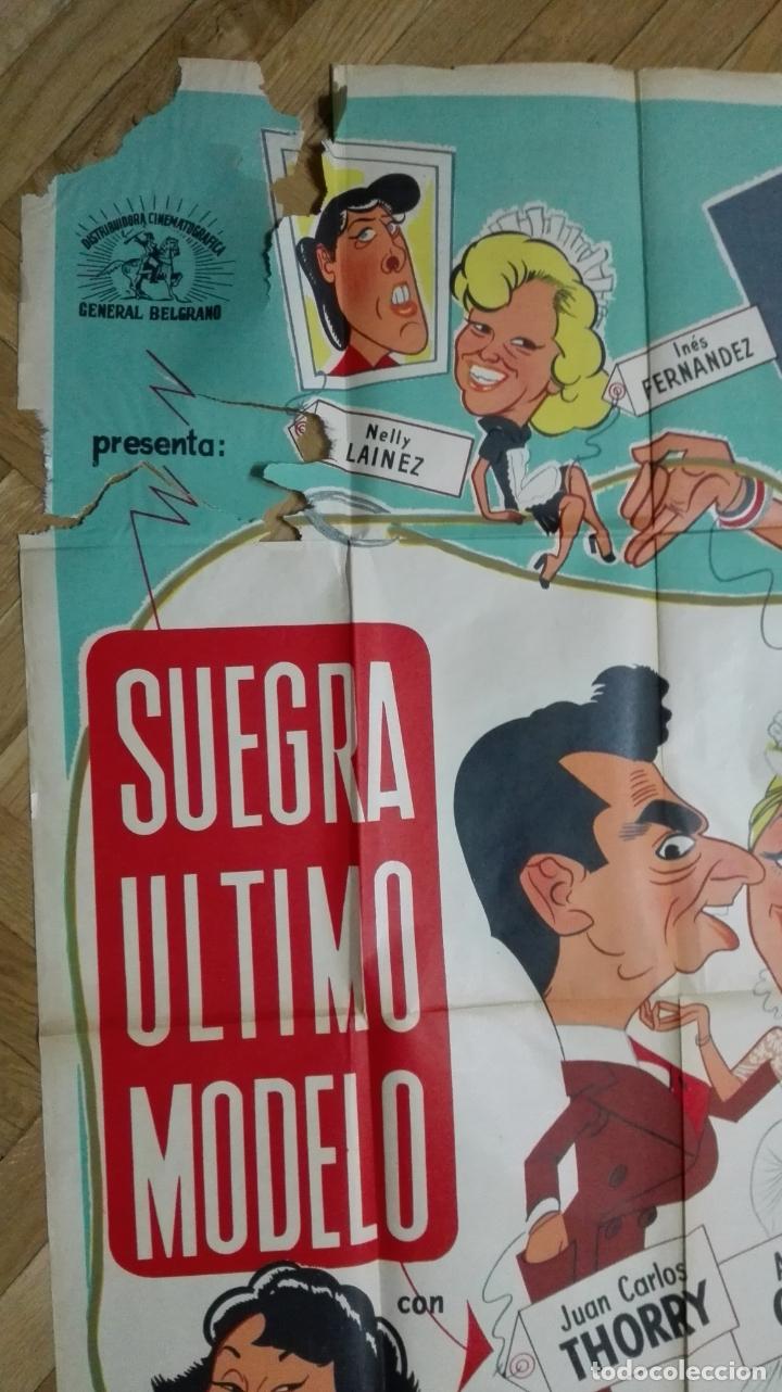 Cine: POSTER SUEGRA ULTIMO MODELO CON JUAN CARLOS THORRY Y ANALIA GADE, MEDIDAS 74 X 110 CM - Foto 4 - 169150748